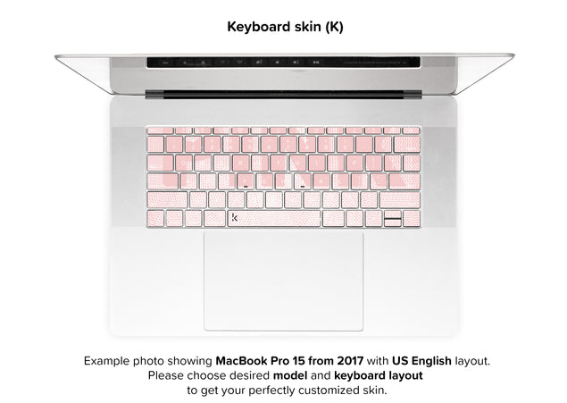Pink Mode MacBook Skin - keyboard stickers