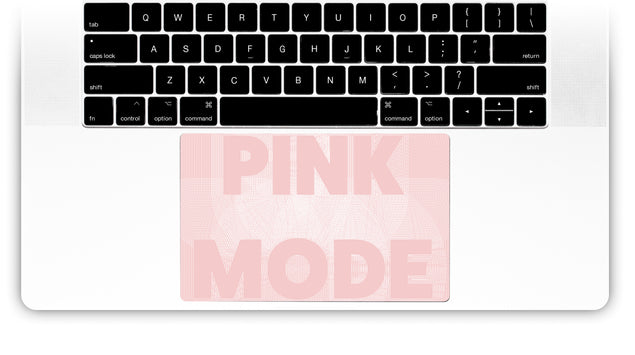 Pink Mode MacBook Trackpad Sticker