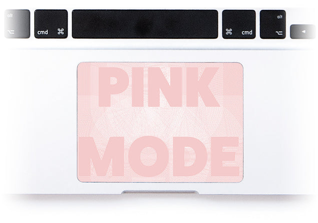 Pink Mode MacBook Trackpad Sticker alternate