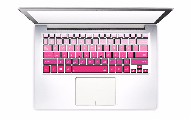 Pink Ombre Laptop Keyboard Decal