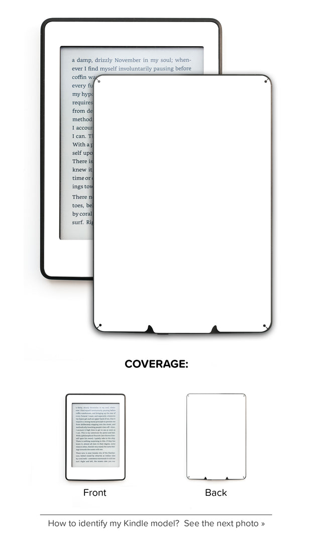 Plain White Kindle Skin