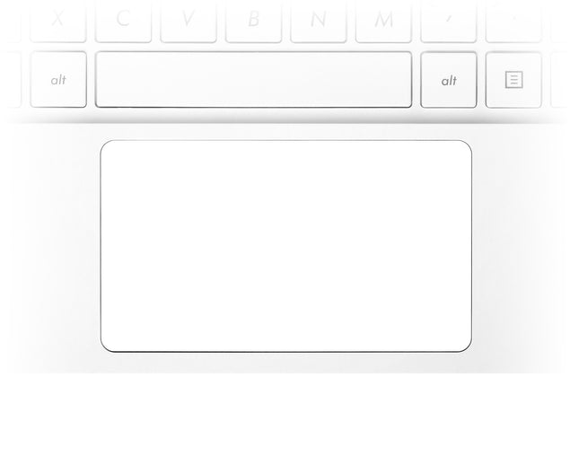 Plain White Laptop Trackpad Sticker