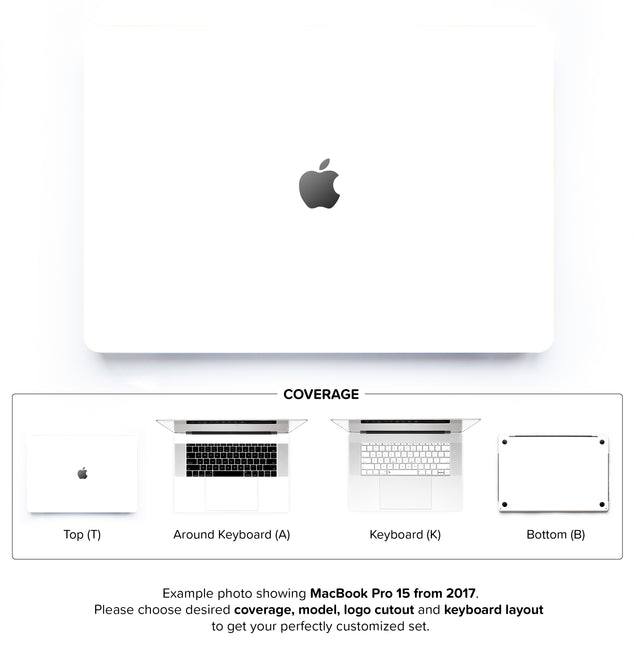 Plain White MacBook Skin