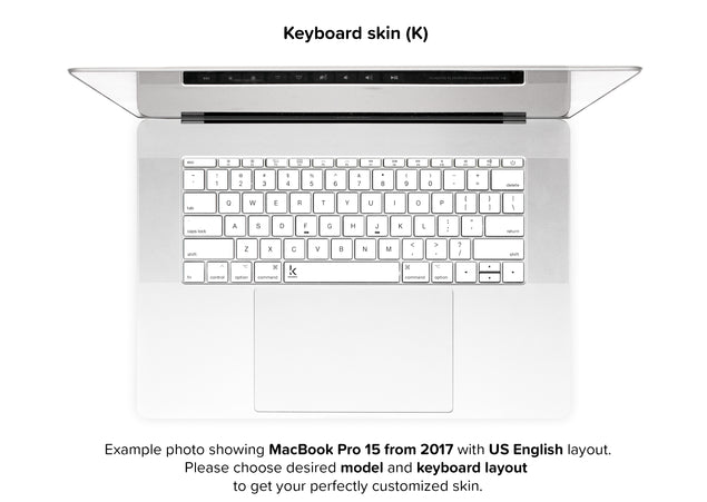 Plain White MacBook Skin - keyboard stickers