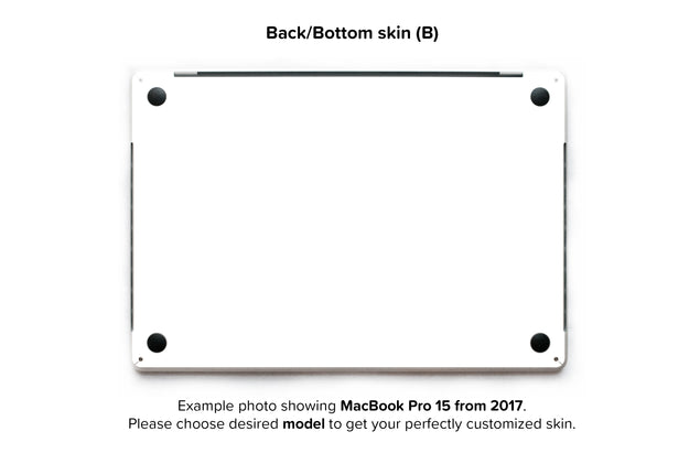 Plain White MacBook Skin - back skin