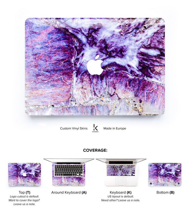 Plum Marble MacBook Skin at Keyshorts.com