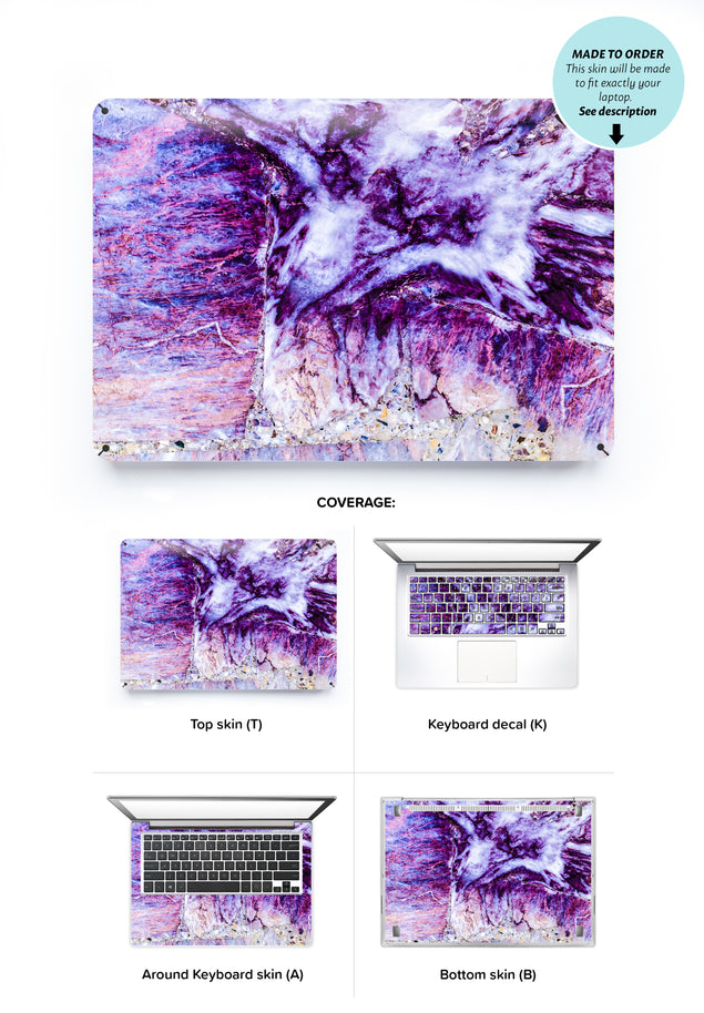 Plum Marble Laptop Skin