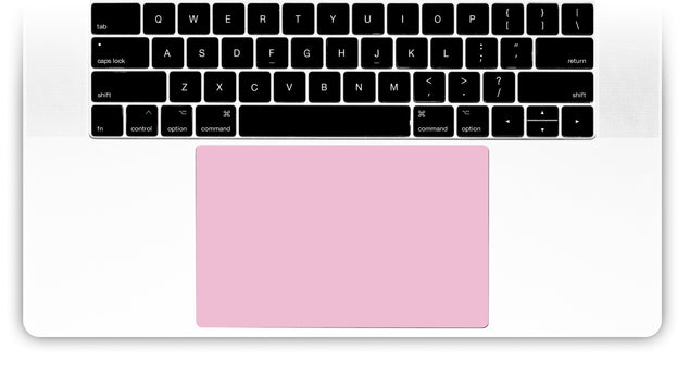 Powder Pink MacBook Trackpad Sticker