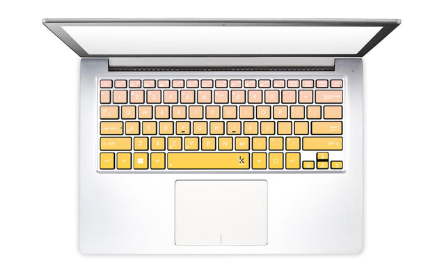 Primrose Dogwood Ombre Laptop Keyboard Decal