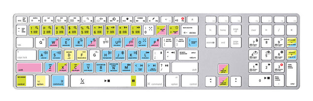 Avid Pro Tools Keyboard Shortcuts Sticker at Keyshorts.com - 4