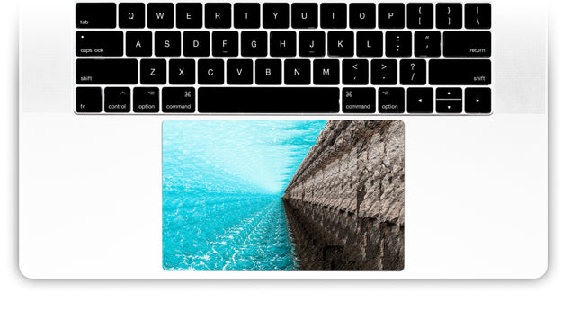 Psycho Wave MacBook Trackpad Sticker