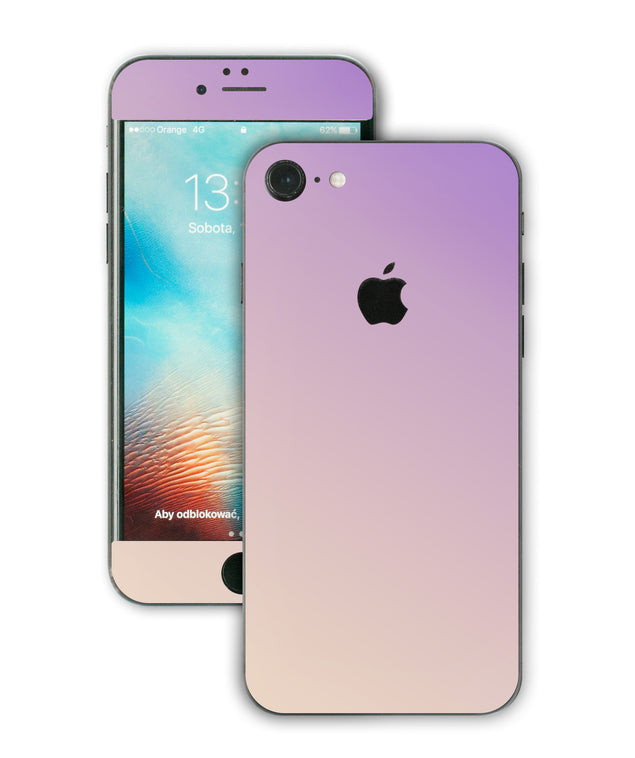 Purple Beige Ombre iPhone Skin