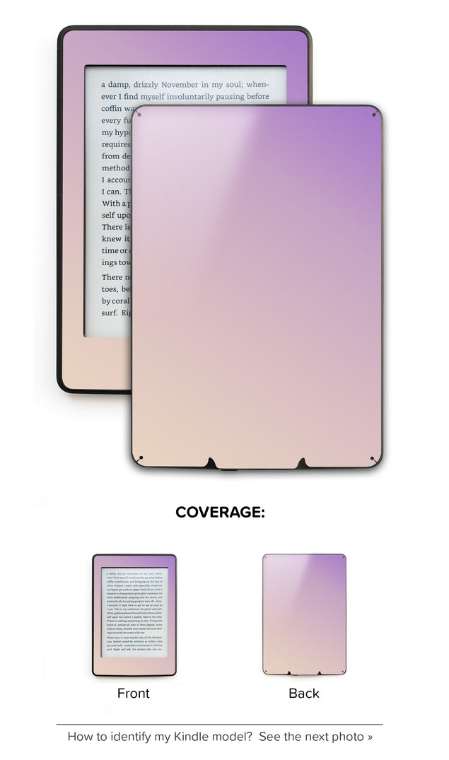 Purple Beige Ombre Kindle Skin