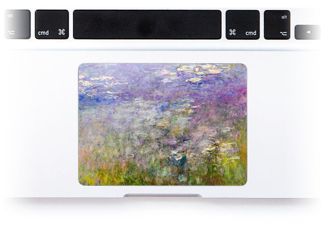 Purple Water Lilies MacBook Trackpad Sticker at Keyshorts.com
