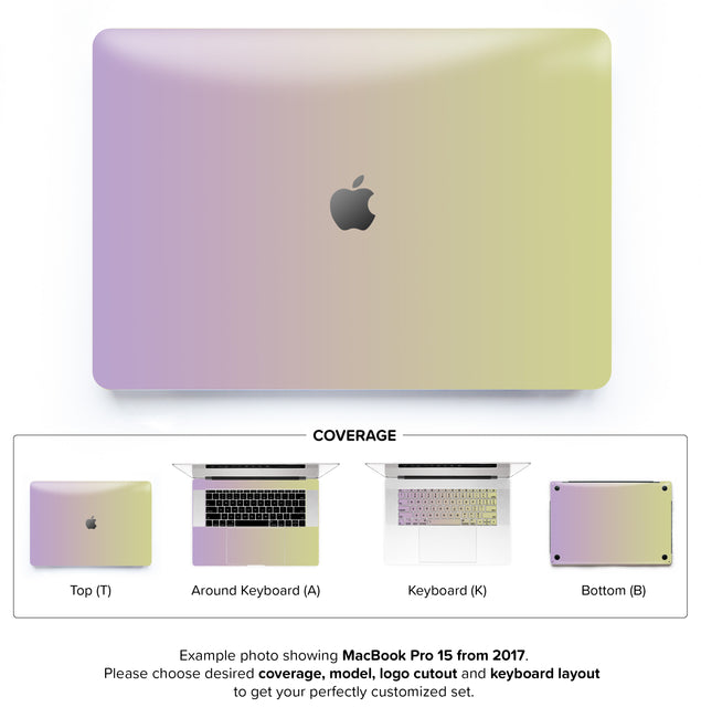 Purpurella Ombre MacBook Skin