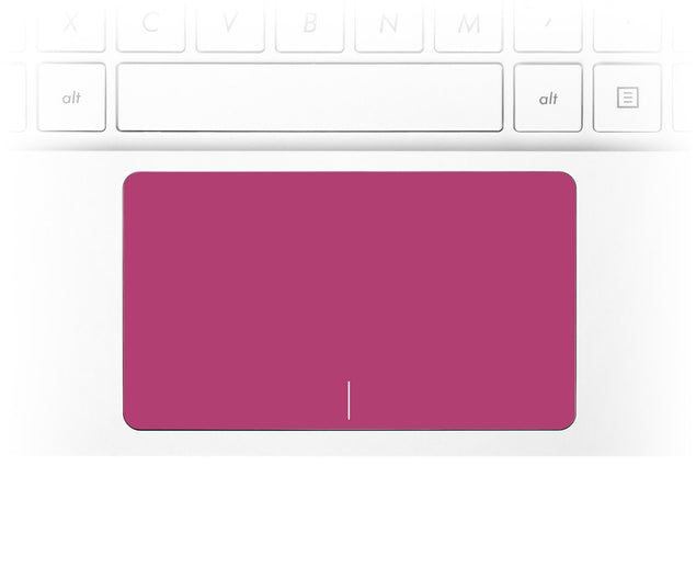 Raspberry color trackpad sticker for laptop