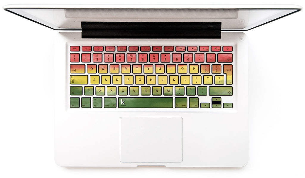 Macbook keyboard decal rasta monet keyshorts