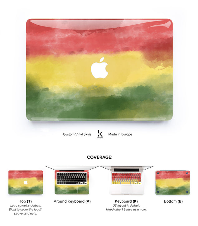 Rasta Monet MacBook Skin