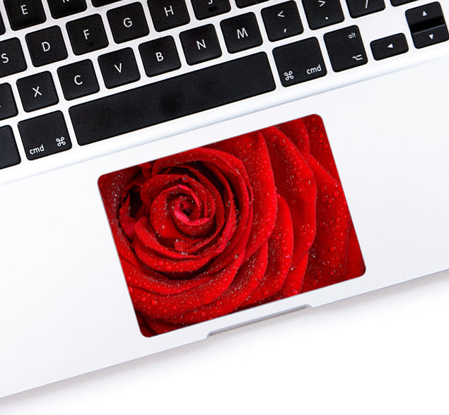 Red Rose MacBook Trackpad Sticker at Keyshorts.com