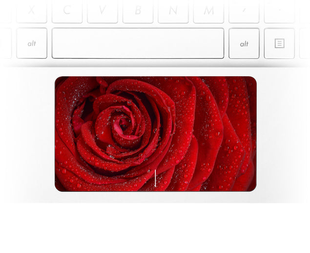 Red Rose Laptop trackpad decal at Keyshorts.com