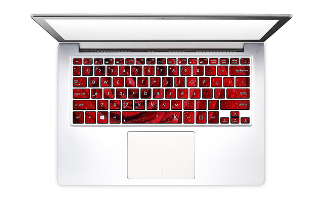 Red Rose Laptop Keyboard Decal