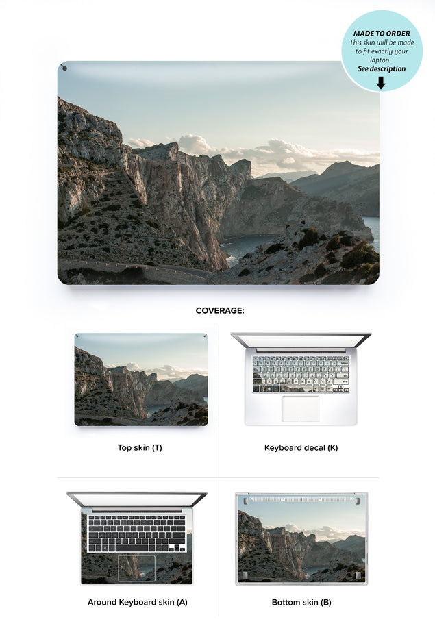 Rocks and clouds Laptop Skin