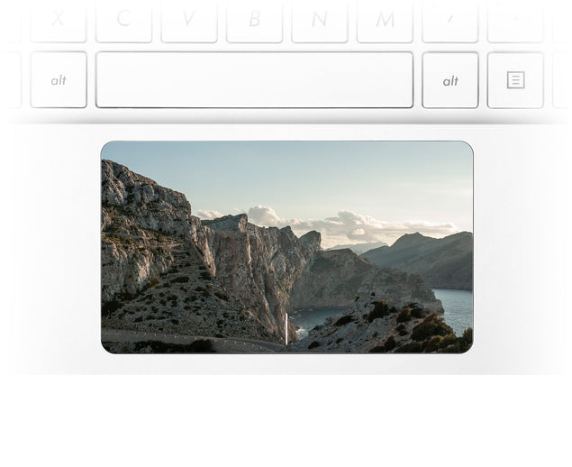 Rocks and clouds Laptop Trackpad Sticker