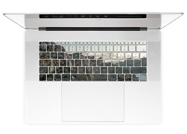 Rocks and clouds MacBook Keyboard Stickers alternate