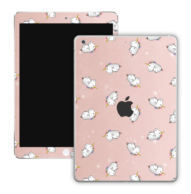 Rose Gold Unicorns iPad Skin
