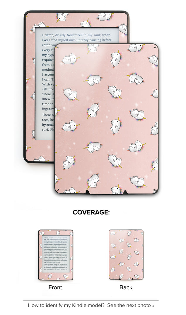 Rose Gold Unicorns Kindle Skin