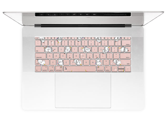 Rose Gold Unicorns MacBook Keyboard Stickers alternate