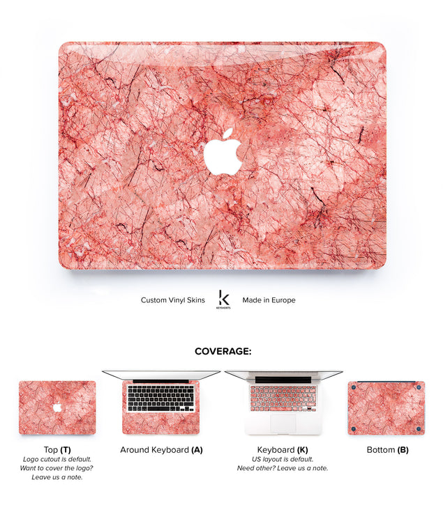 Rose Marble MacBook Skin at Keyshorts.com