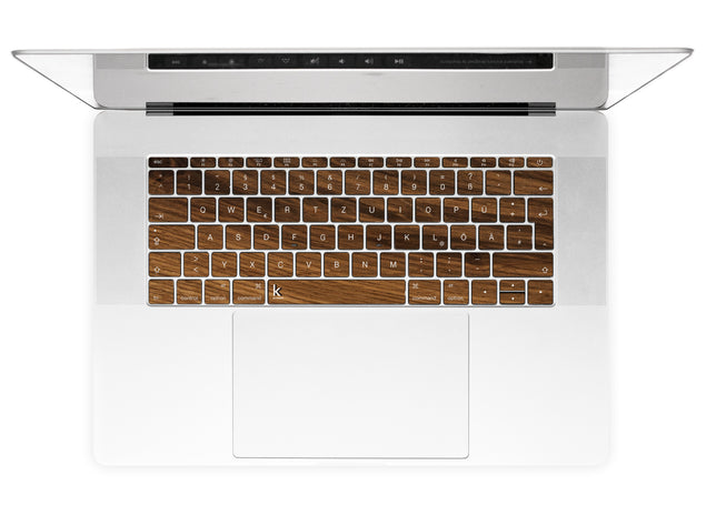 Rustic Wood MacBook Keyboard Stickers alternate