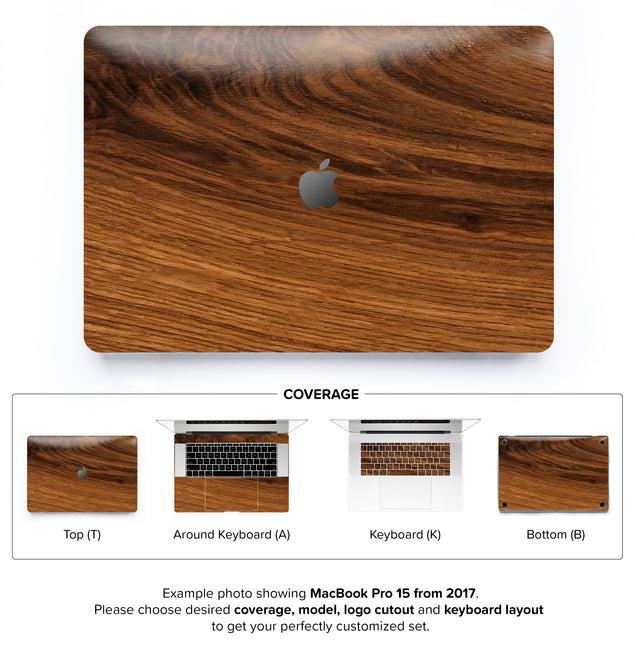 Rustic Wood MacBook Skin