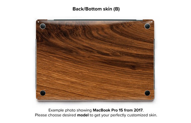 Rustic Wood MacBook Skin - back skin
