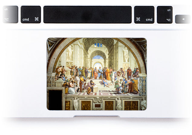 School of Athens MacBook Trackpad Sticker at Keyshorts.com