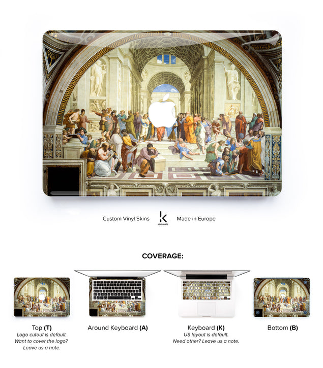 School of Athens MacBook Skin at Keyshorts.com