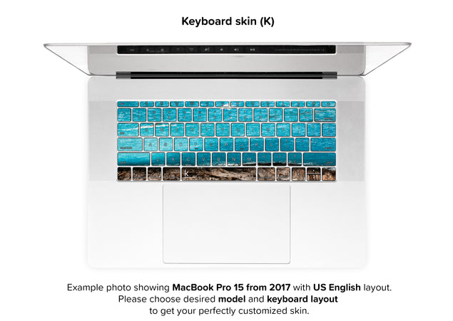 Sea Cut MacBook Skin - keyboard stickers