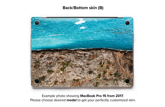 Sea Cut MacBook Skin - back skin
