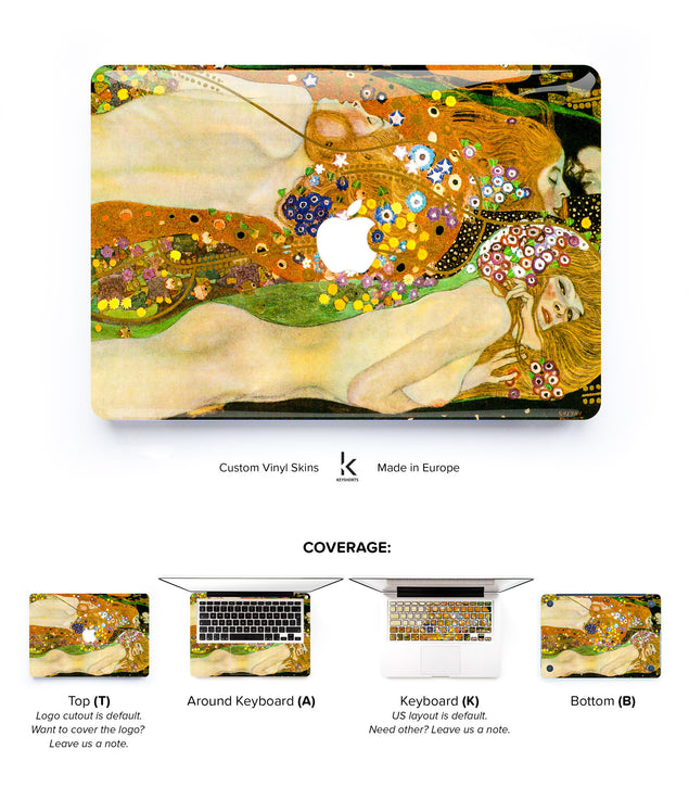 Klimt's Sea Serpents MacBook Skin at Keyshorts.com