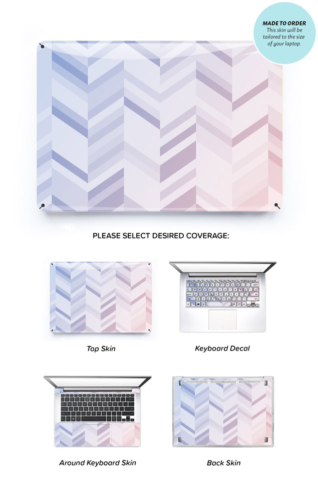 Rose Serenity Chevrons Laptop Skin