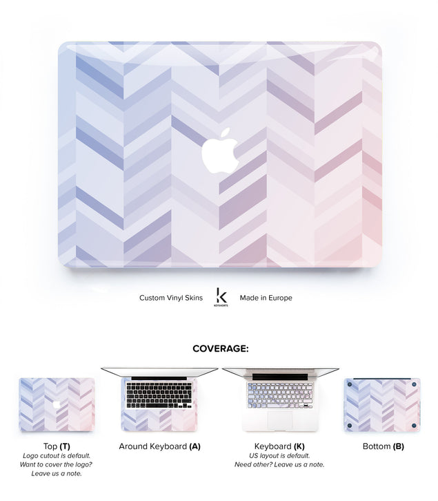 Serenity Rose Chevrons MacBook Skin at Keyshorts.com