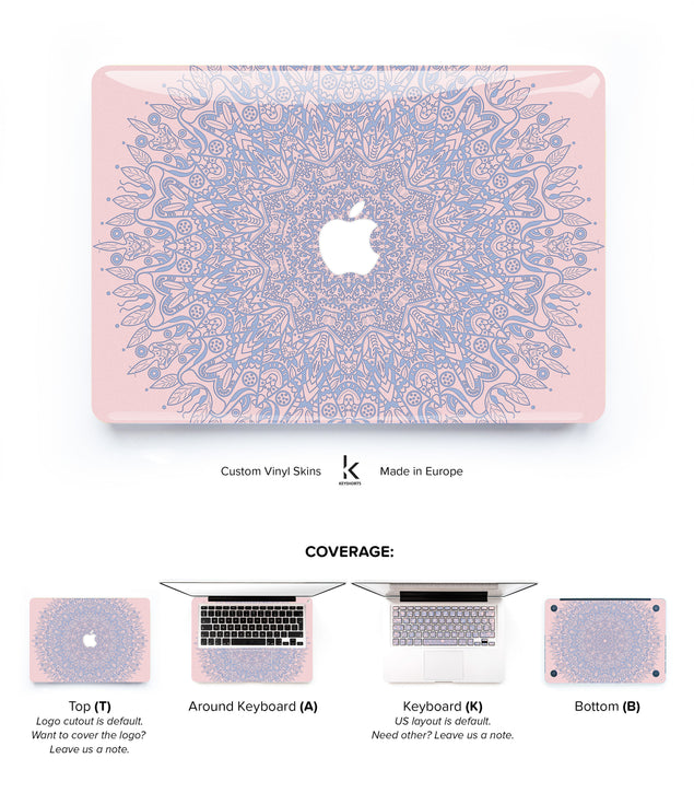 Serenity Rose Mandala MacBook Skin
