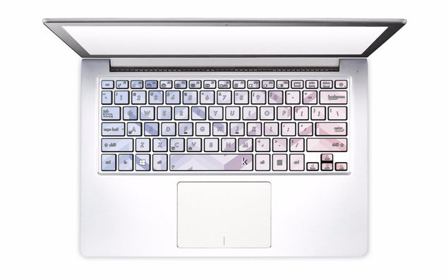 Rose Serenity Chevrons Laptop Keyboard Decal