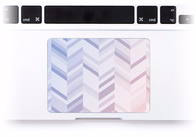 Rose Serenity Chevrons MacBook Trackpad Sticker at Keyshorts.com