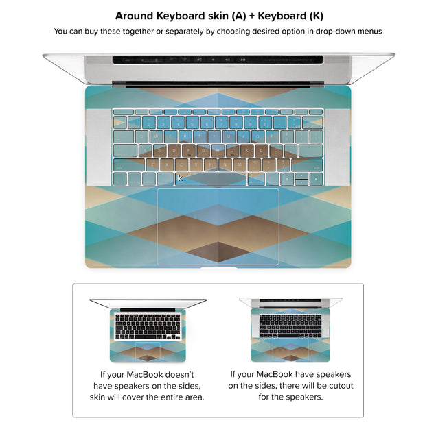 Zulu MacBook Skin - around keyboard skin