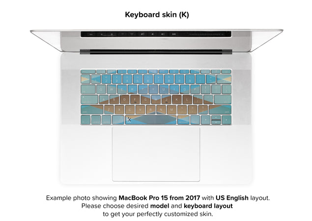 Zulu MacBook Skin - keyboard stickers
