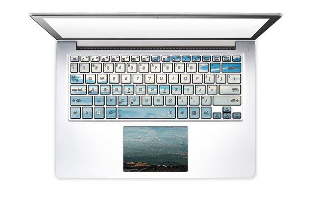 Sicilian Sky Laptop Keyboard Stickers