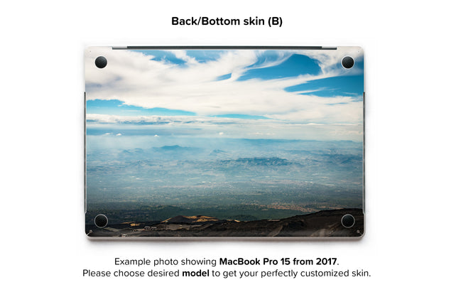 Sicilian Sky MacBook Skin - back skin