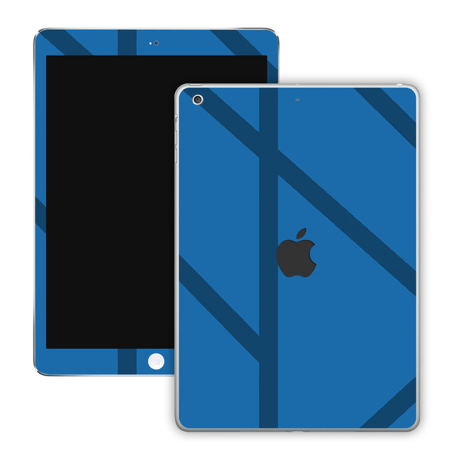 Simple blue lines iPad Skin